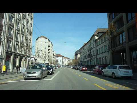 Switzerland 135 (Camera on board): Marly (FR), Fribourg, Pérolles, gare, quartier du Schönberg