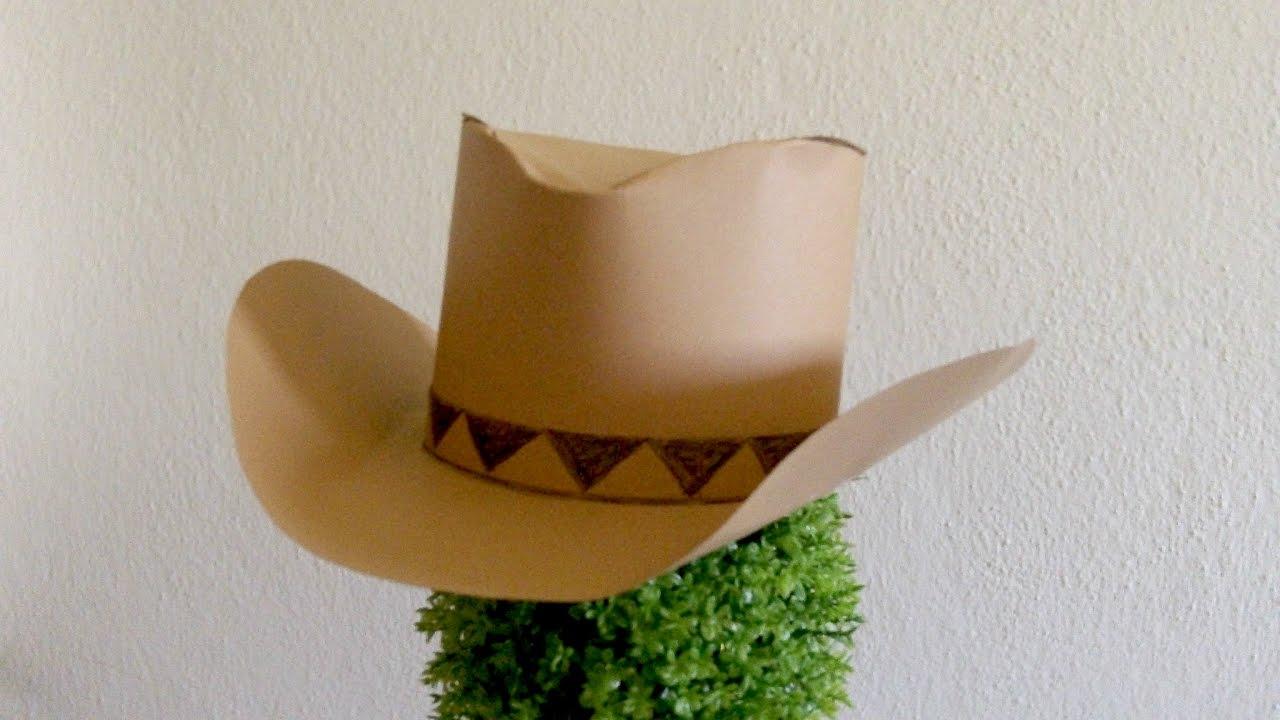 Como Fazer um Chapéu de Cowboy de Papel - YouTube ad7a67b525
