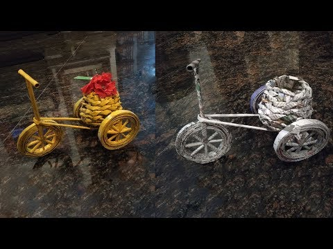 DIY Paper Cycle | Waste Paper Craft | Decorative Cycle