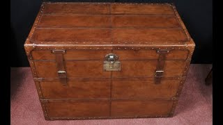 English Leather Campaign Luggage Trunk Storage Box