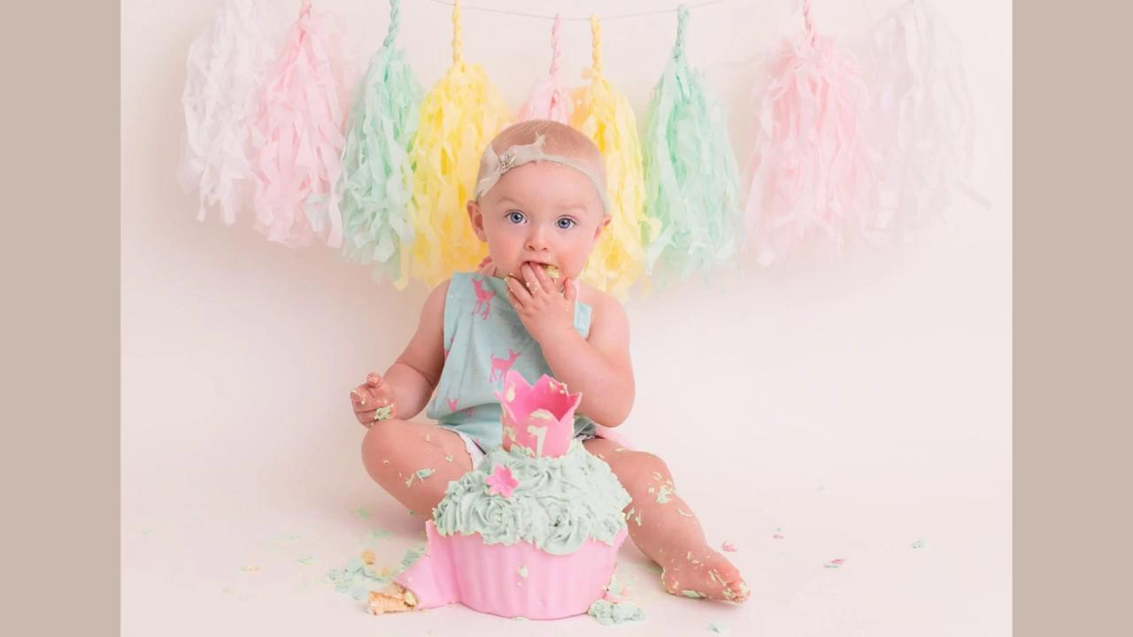 Aylas 1st Birthday Cake Smash Photoshoot Whetstone Leicester