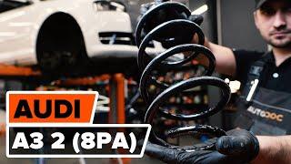 Смяна на задни ляво дясно Пружини на AUDI A3 Sportback (8PA) - видео инструкции