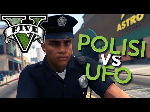 GTA 5 Mod - POLISI vs UFO !! - Momen Lucu GTA