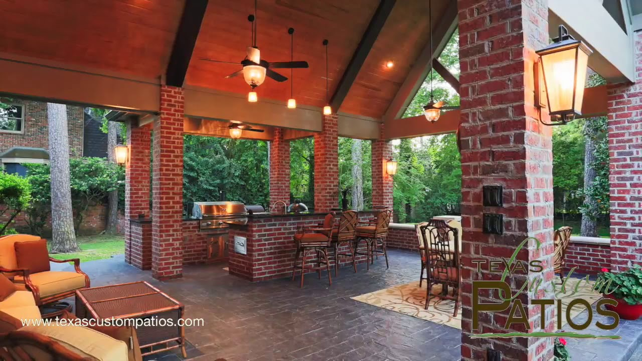Patio Covers | Outdoor Kitchens | Fireplaces | Texas Custom Patios ...