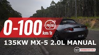 2019 Mazda MX-5 (2.0L) 0-100km/h & engine sound