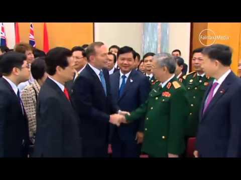 "Tony Abbott tells Vietnamese General ""We Australians know well the power of the Vietnamese army"""