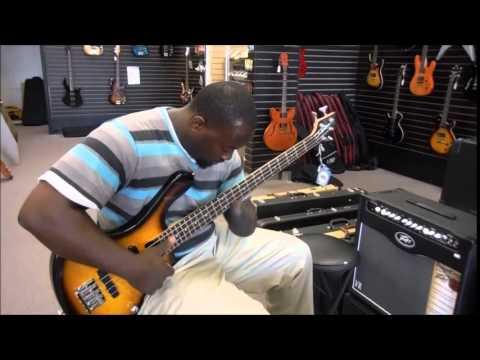 One hand man DESTROYS the bass guitar.