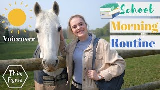 Voiceover School Morning Routine of an Equestrian | This Esme