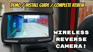 Auto Vox WIRELESS Reverse Camera! Kit (How to Install Guide & Complete Review).