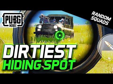 FOUND THE DIRTIEST HIDING SPOT... PUBG Mobile