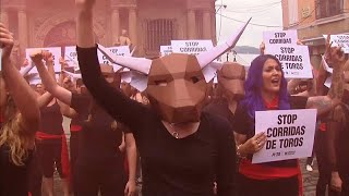 Protests in Pamplona ahead of Spain