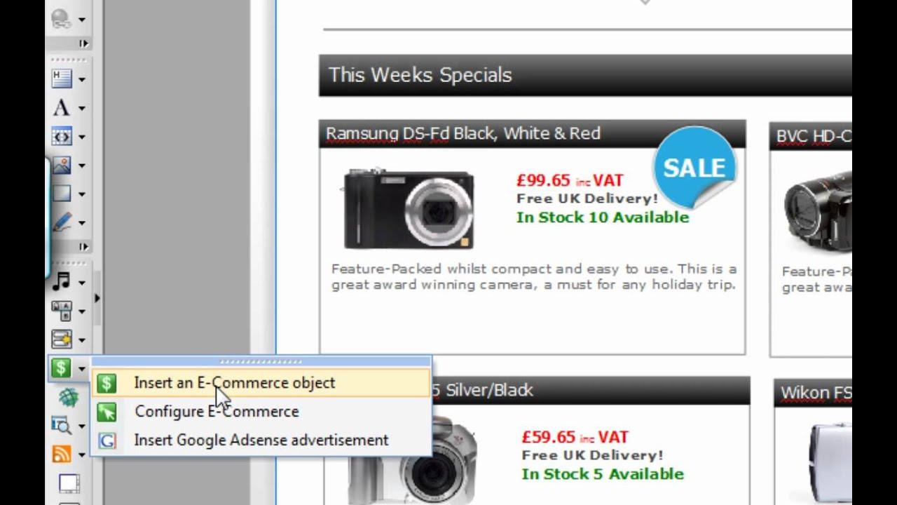 Serif WebPlus X5 Tutorial - Creating an Online Store - YouTube