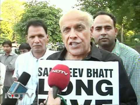 Support for Sanjiv Bhatt: Anti-Modi protests in Delhi