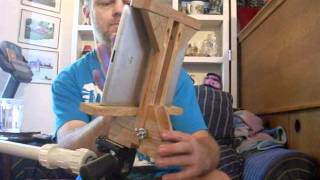 Wooden tripod mount for iPad and other Smart Devices