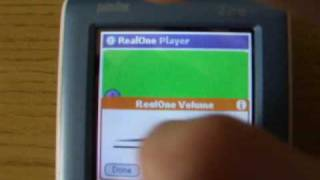 RealOne Player on Palm OS