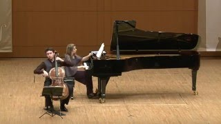Nemtsov Duo, Beethoven C major sonata for piano and cello, 1st mvt