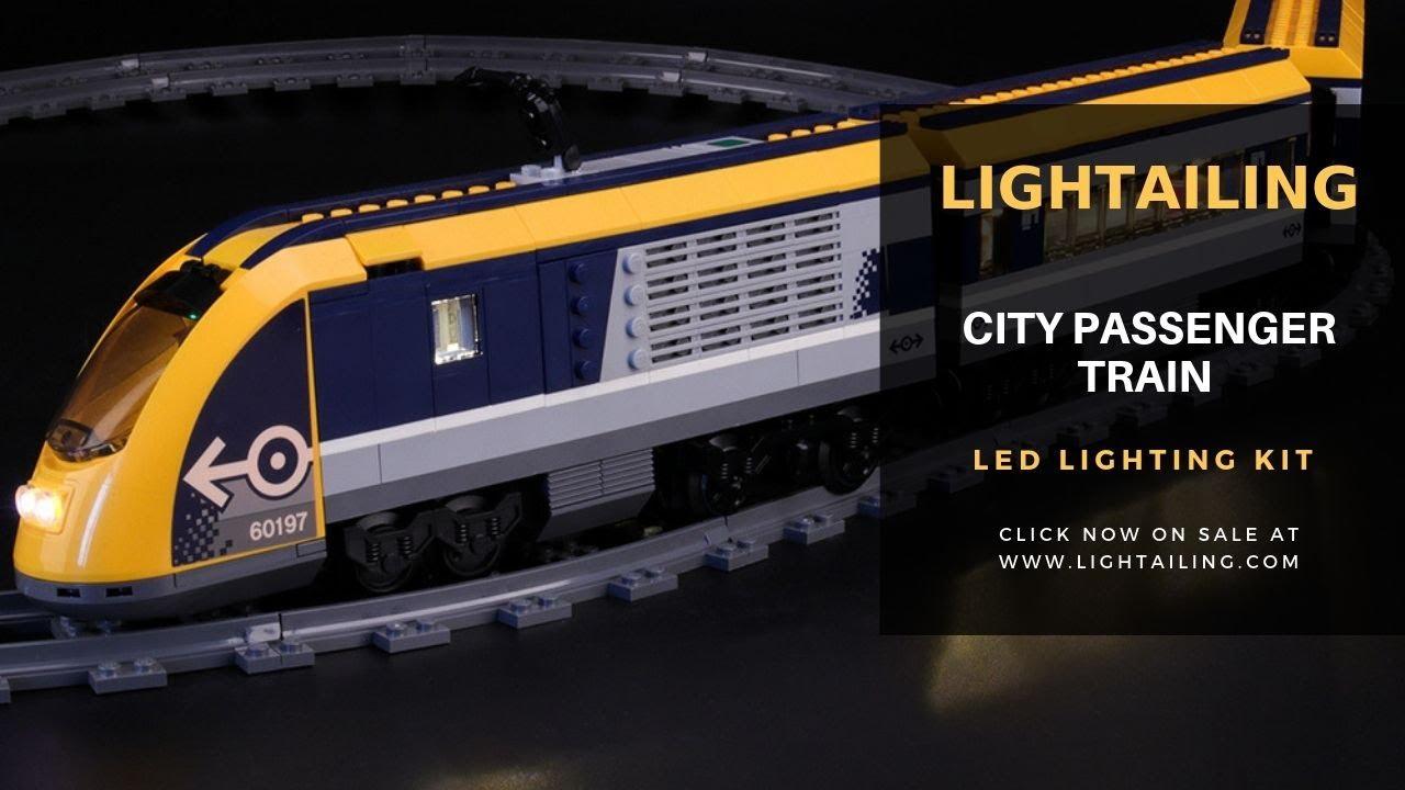 LED Light Up Kit For LEGO 60197 City Series Passenger Train Lighting Bricks Set