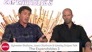 Sylvester Stallone, Jason Statham & Wesley Snipes Talk THE EXPENDABLES 3 With AMC