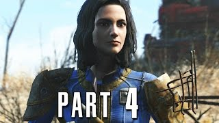 Fallout 4 Walkthrough Gameplay Part 4 - Minutemen PS4