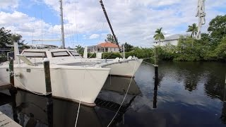 SvZingaro - 1984 crowther spindrift catamaran walkthrough