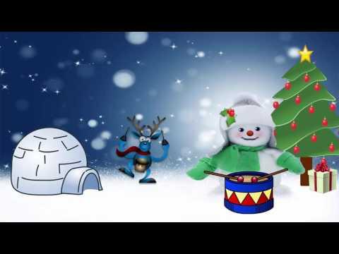The Little Drummer Boy Children's Christmas Carol Songs - 1 Hour Repeat