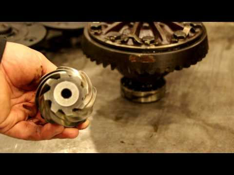 Willys Jeep Rear Axle Rebuild, ring and pinion setup