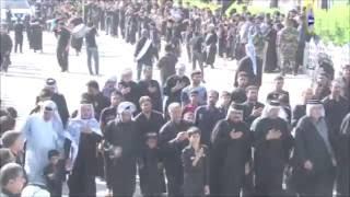 استعراض المواكب الحسينية في اليوم السابع من محرم في قضاء الميمونة