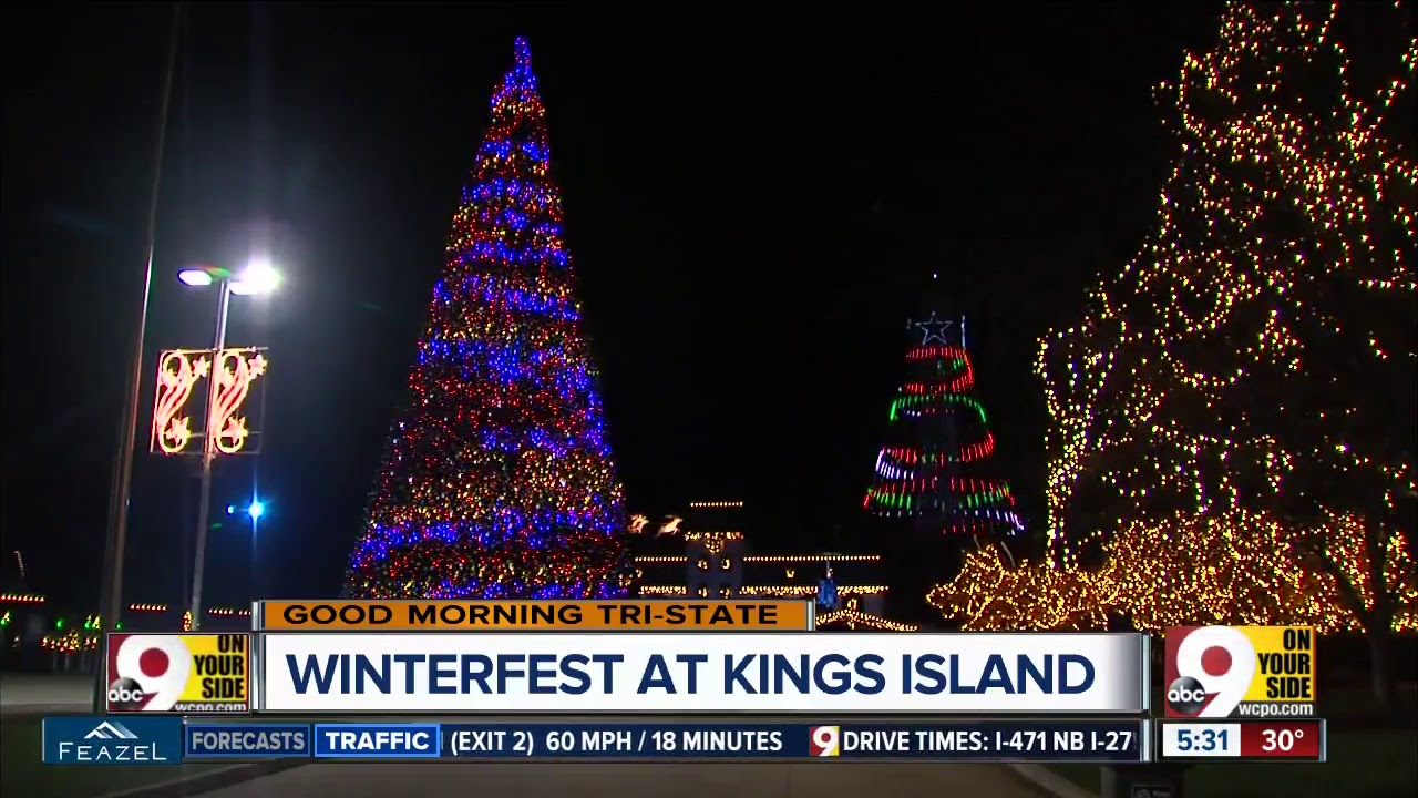 Kings Island flipping switch on 5 million lights at WinterFest - YouTube