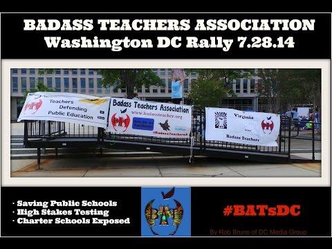Badass Teachers Association Rally #BATsDC 2014 Interviews