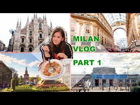 意大利米兰游记购物美食攻略 | Italy Milan Travel Vlog Duomo, Luxury Designer Shopping, and Seafood P1【Eng Subs】