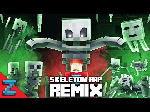 MINECRAFT SKELETON RAP REMIX | New Ending! (Animated Music Video) ZAMination Version