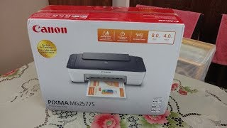 Canon Pixma MG2577s All-in-One InkJet Printer (Blue/White) Unboxing and Demo