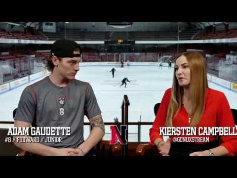 Adam Gaudette Beanpot Interview   Northeastern Men