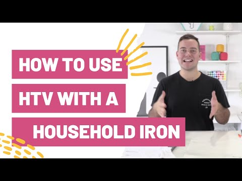 How To Use HTV With a Household Iron