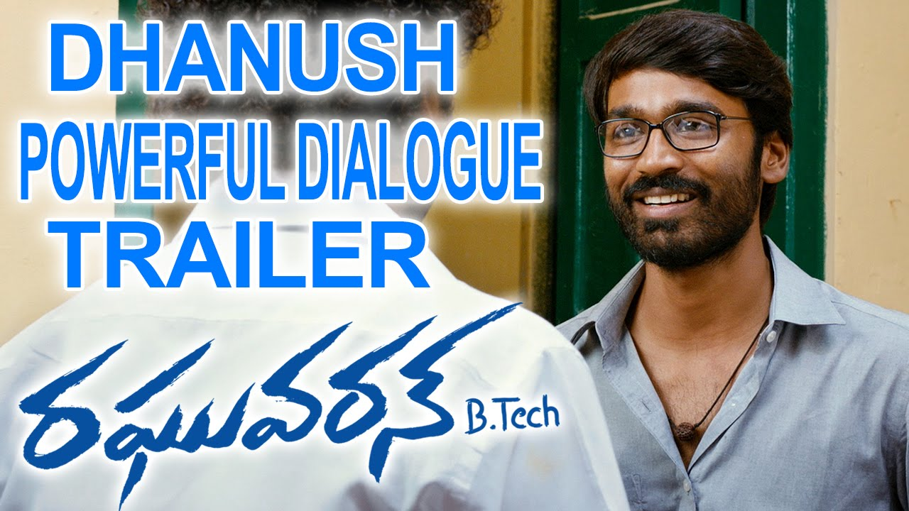 Dhanush Powerful Dialogue Trailer || Raghuvaran B.Tech Movie || Dhanush || Amala Paul