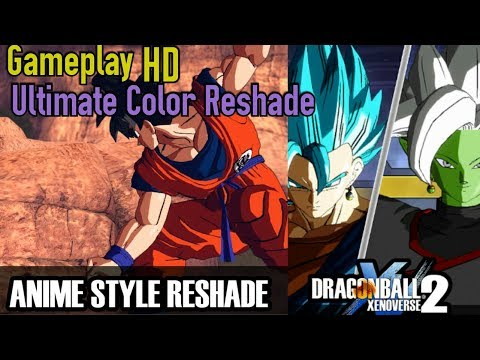 Dragon Ball Xenoverse 2 Anime Style MOD   Ultimate Color Reshade   Comparison   Commentary