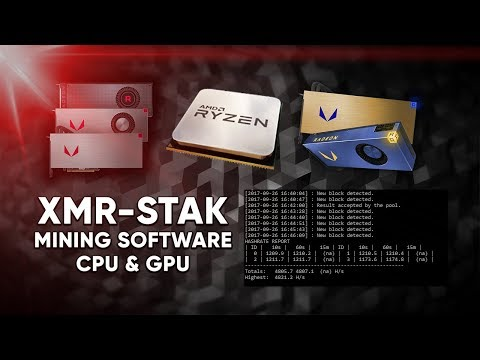 XMR-STAK Mining Software Introduction & How To (Win 10 / HiveOS) GPU & CPU Mining