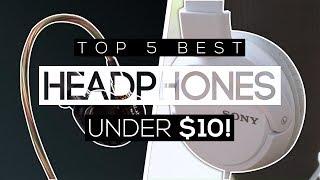 Video Top 5 Best Budget Headphones For Under $10! download MP3, 3GP, MP4, WEBM, AVI, FLV Juli 2018