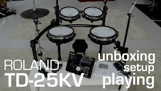 Roland TD-25 KV unboxing // setup // playing