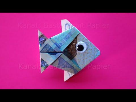 Geldscheine Falten Fisch Geld Falten Zum Geldgeschenke Basteln