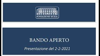 Webinar di presentazione  piattaforma ROL - Bando aperto per la concessione di contributi 2021