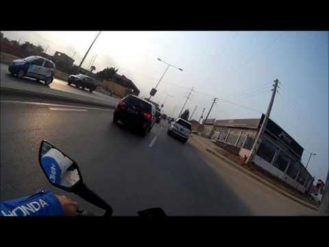 Testando Câmera AEE S50+ de KTM Duke 200 Estrada Patriota Luanda Angola
