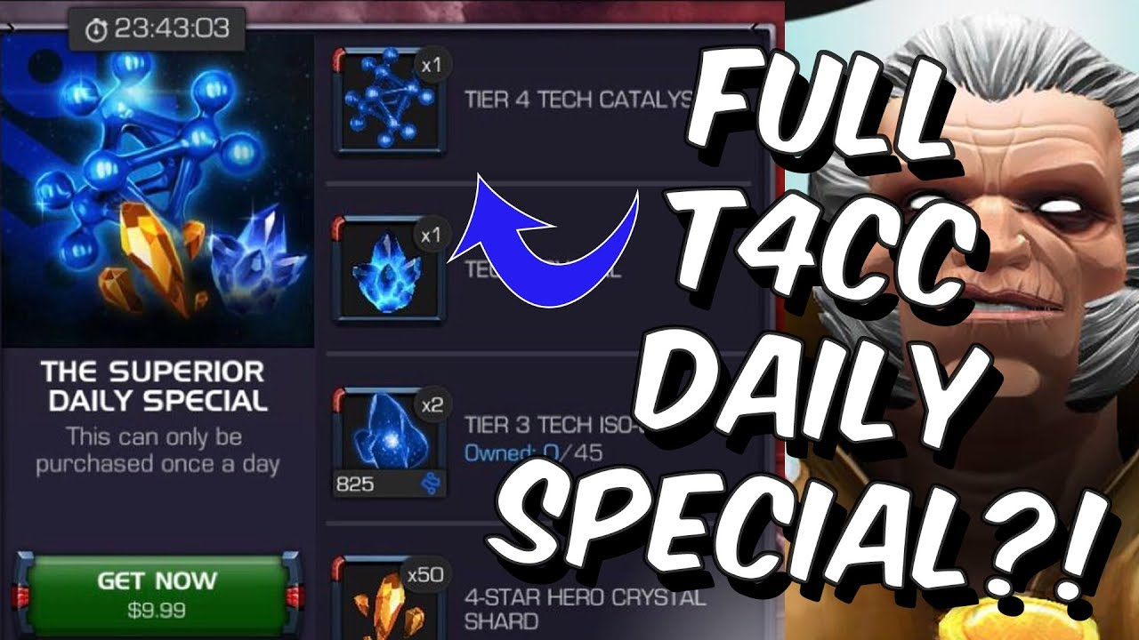 Full Tier 4 Class Catalyst Daily Special - Is It Worth It? - Marvel ...