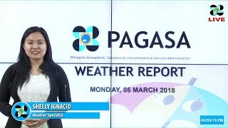 Public Weather Forecast Issued at 4:00 PM March 05, 2018