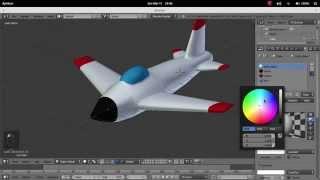 Belajar 3D dengan Blender - 4. Membuat Model Pesawat