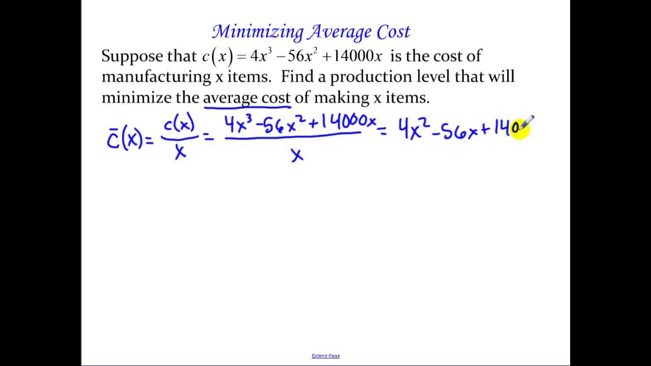 5 Minimizing Average Cost