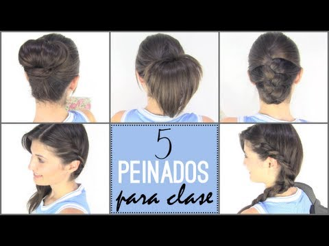 5 peinados faciles para ir a la escuela | 5 back to school