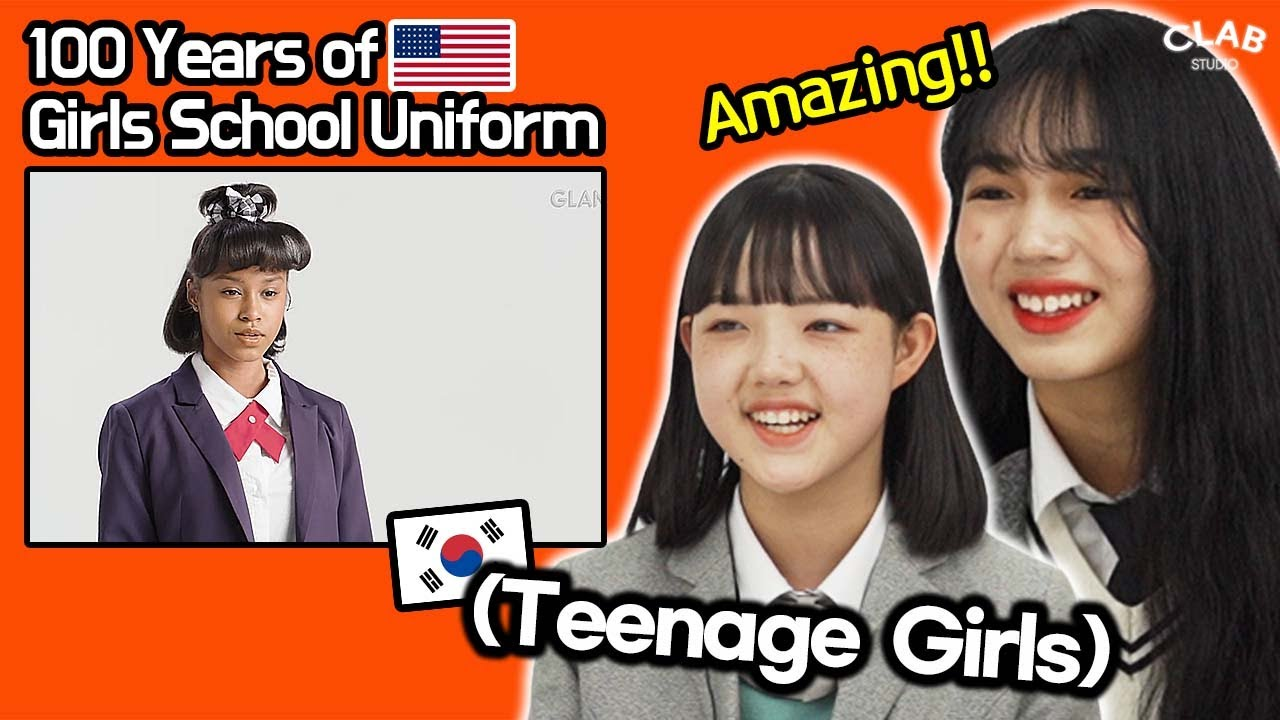 Korean Teen Girls React To 100 Years of  Girls School Uniform