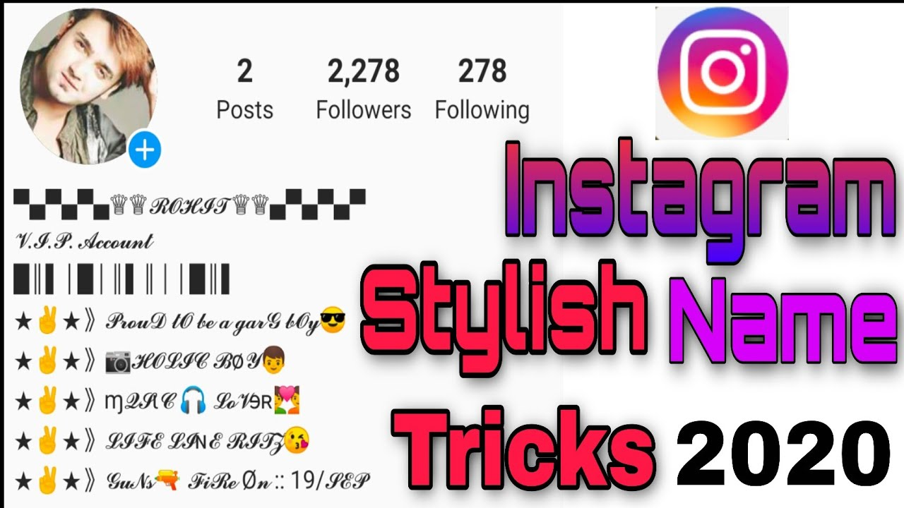 How To Stylish Name In Instagram Instagram Par Stylish Name Kaise Likhe Youtube Most of the young boys & girls are searching for stylish names for facebook on the internet. how to stylish name in instagram instagram par stylish name kaise likhe