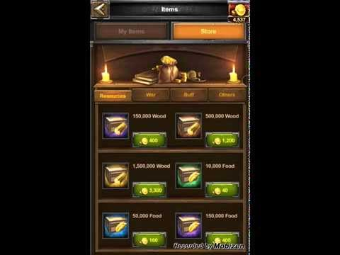 CLASH OF KINGS 21000 GOLD !!